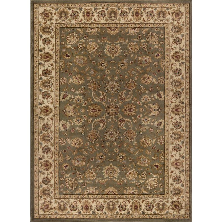 Tayse Elegance Green Rectangular Indoor Machine-made Area Rug (Common: 9 x 12; Actual: 9.25-ft W x 12.5-ft L)