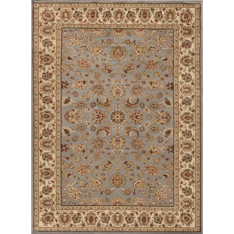 Shop Tayse Elegance Blue Rectangular Indoor Machine-made Area Rug (Common: 5 x 7; Actual: 5-ft W ...