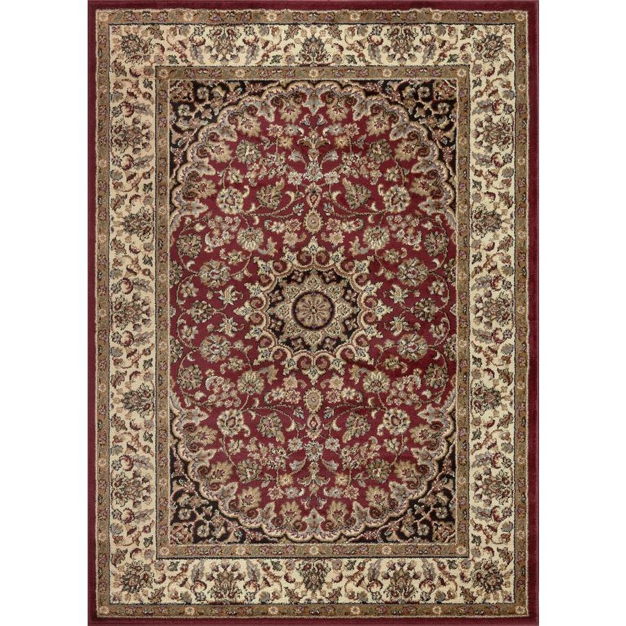 Tayse Elegance Red Rectangular Indoor Area Rug (Common: 9 x 12; Actual: 9.25-ft W x 12.5-ft L)