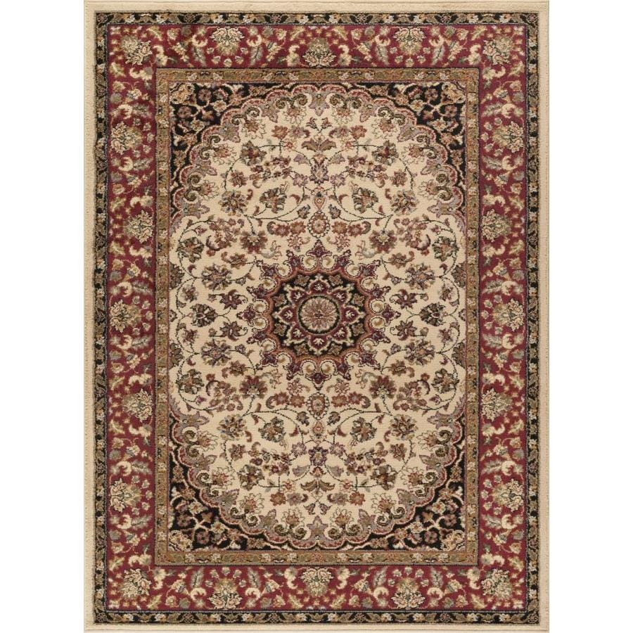 Tayse Elegance Beige Rectangular Indoor Machine-made Area Rug (Common: 9 x 12; Actual: 9.25-ft W x 12.5-ft L)