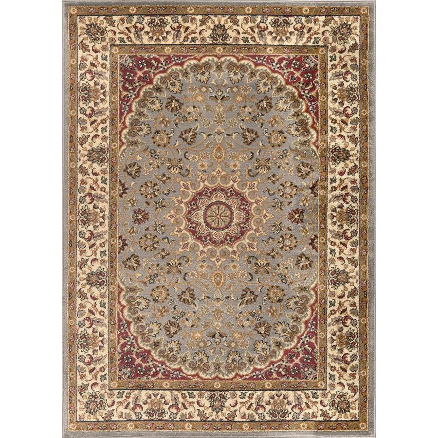 Tayse Elegance Blue Rectangular Indoor Machine-Made Area Rug (Common: 8 x 10; Actual: 7.5-ft W x 9.8333-ft L)