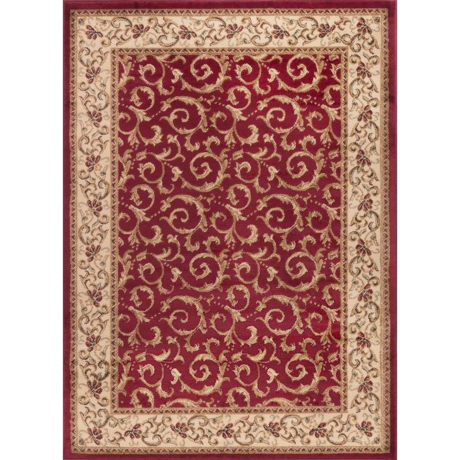 Tayse Elegance Red Rectangular Indoor Machine-Made Area Rug (Common: 9 x 12; Actual: 9.25-ft W x 12.5-ft L)