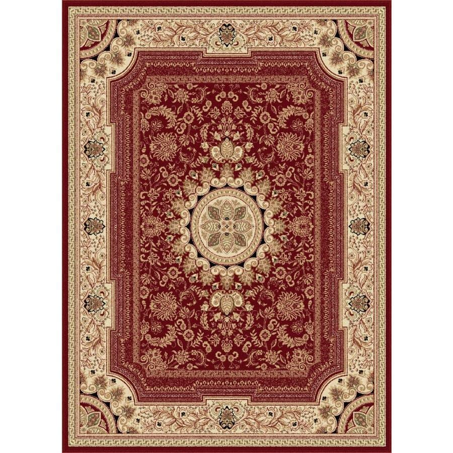 Tayse Sensation Red Rectangular Indoor Machine-Made Area Rug (Common: 7 x 10; Actual: 6.5833-ft W x 9.5-ft L)