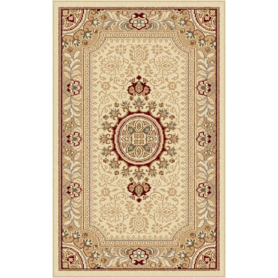 Tayse Sensation Ivory Rectangular Indoor Throw Rug (Common: 2 x 3; Actual: 2-ft W x 3-ft L)