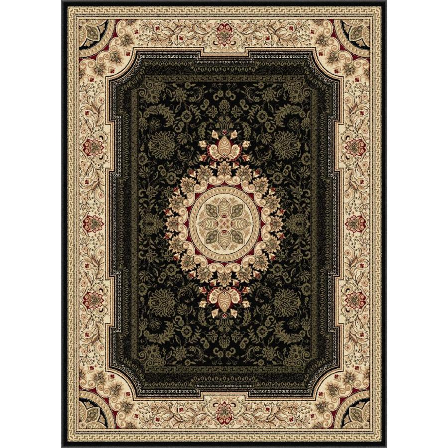 Tayse Sensation Black Rectangular Indoor Area Rug (Common: 7 x 10; Actual: 6.5833-ft W x 9.5-ft L)