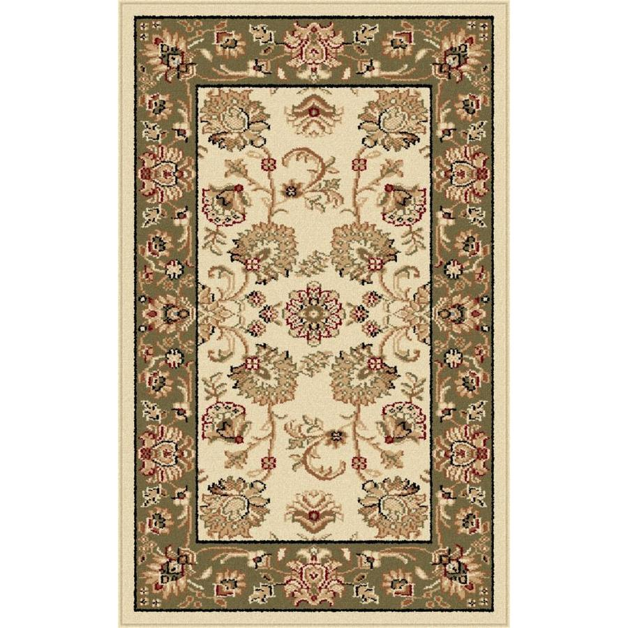 Tayse Sensation Ivory Rectangular Indoor Machine-Made Throw Rug (Common: 2 x 3; Actual: 2-ft W x 3-ft L)
