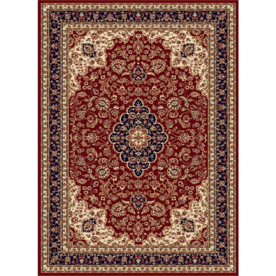 Tayse Sensation Red Rectangular Indoor Machine-made Area Rug (Common: 8 x 10; Actual: 7.8333-ft W x 10.25-ft L)