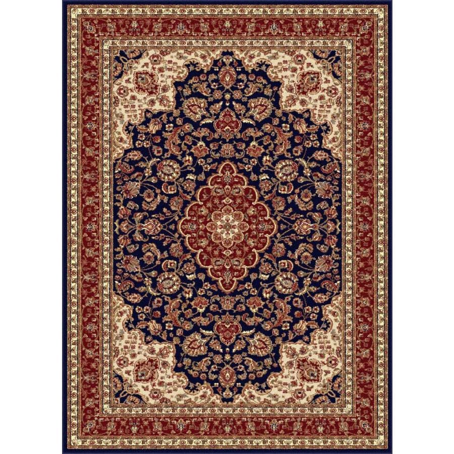 Tayse Sensation Blue Rectangular Indoor Machine-Made Area Rug (Common: 9 x 12; Actual: 8.75-ft W x 12.25-ft L)