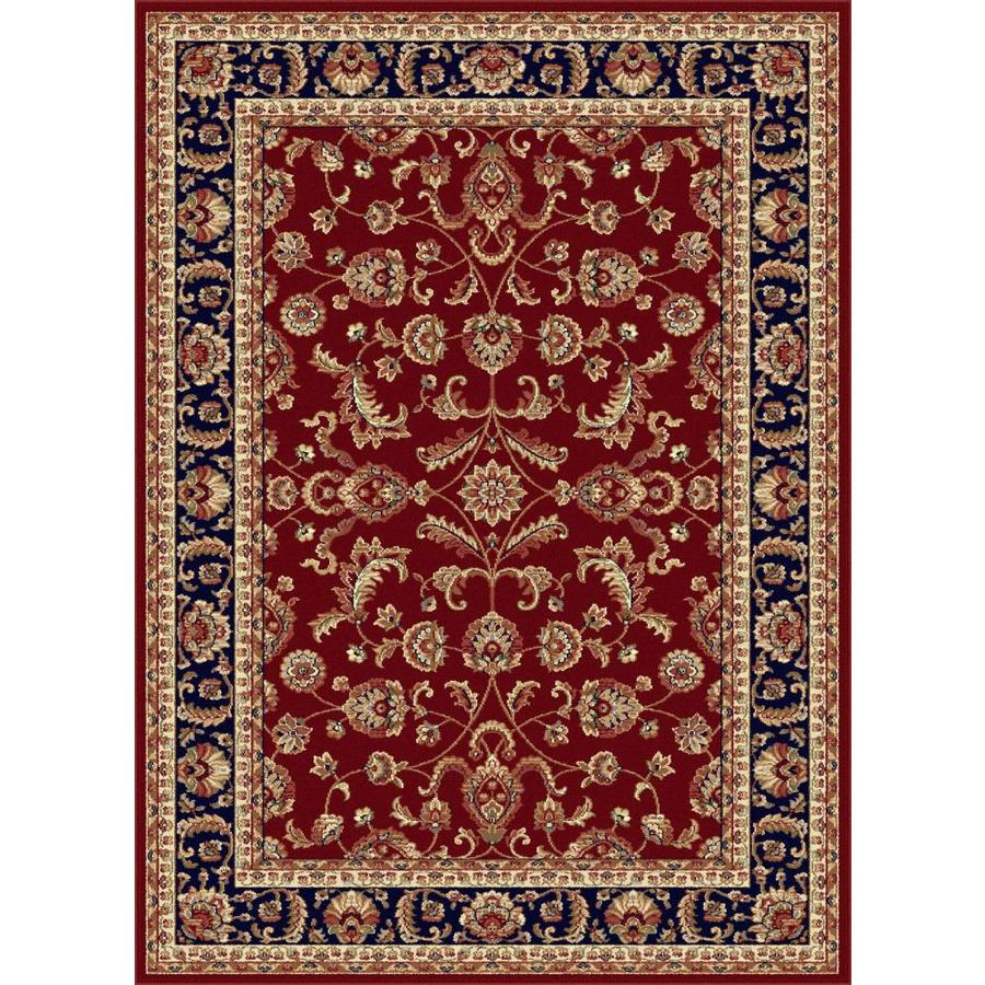 Tayse Sensation Red Rectangular Indoor Area Rug (Common: 9 x 12; Actual: 8.75-ft W x 12.25-ft L)