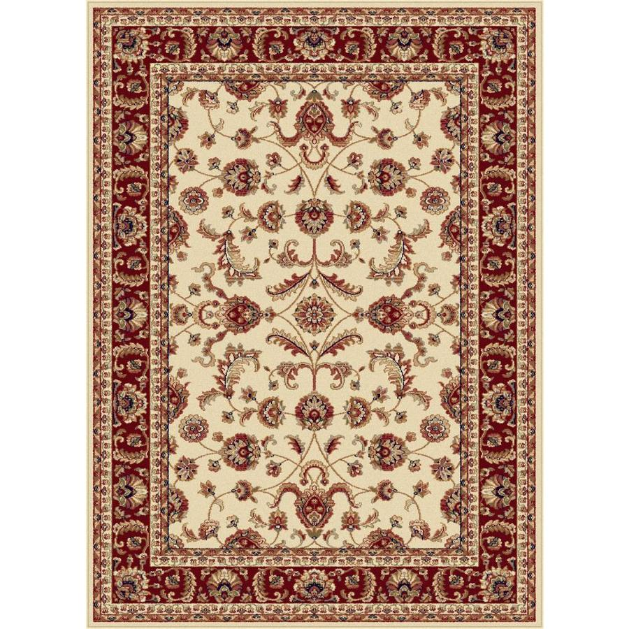 Tayse Sensation Ivory Rectangular Indoor Machine-made Area Rug (Common: 7 x 10; Actual: 6.5833-ft W x 9.5-ft L)