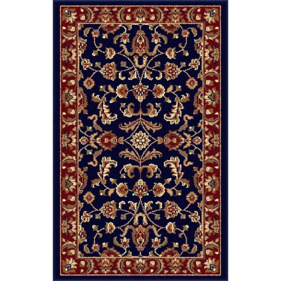 Tayse Sensation Blue Rectangular Indoor Machine-made Throw Rug (Common: 2 x 3; Actual: 2-ft W x 3-ft L)