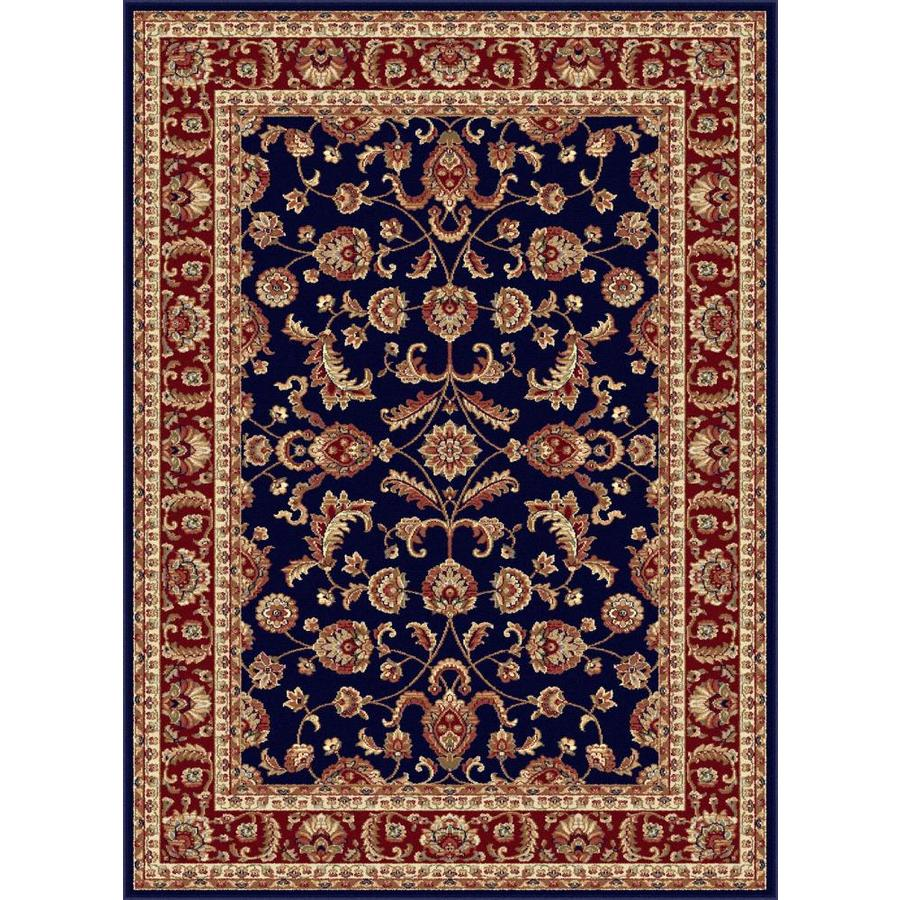 Tayse Sensation Blue Rectangular Indoor Machine-Made Area Rug (Common: 7 x 10; Actual: 6.5833-ft W x 9.5-ft L)
