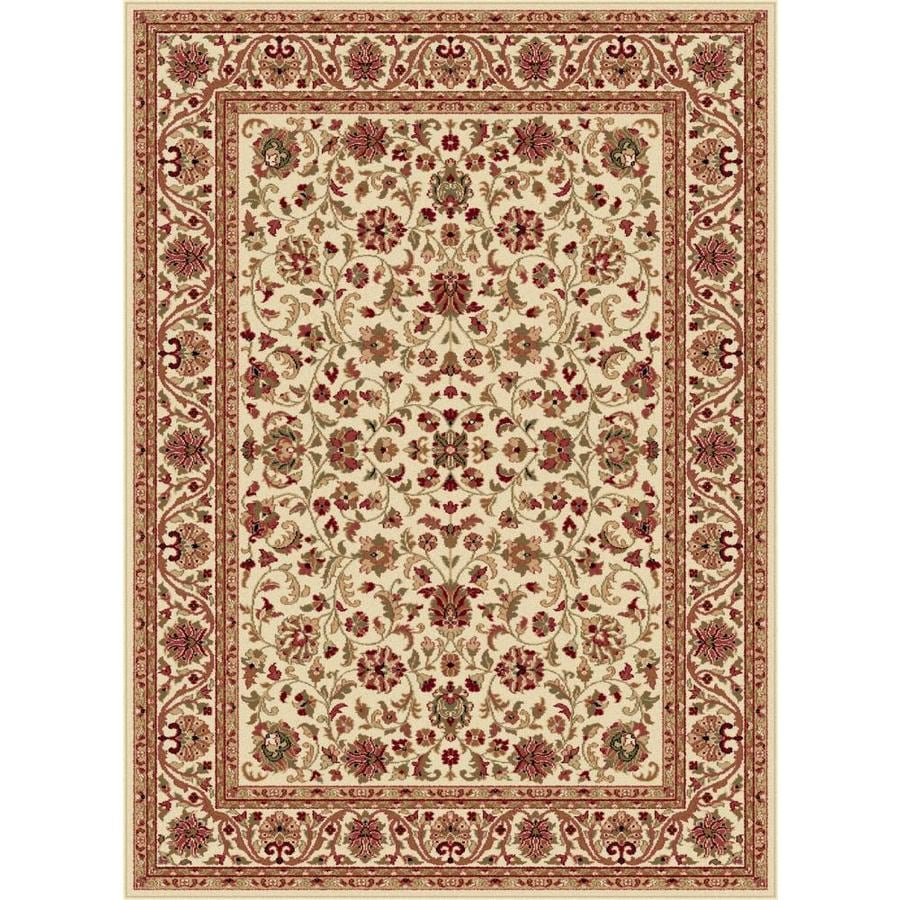 Tayse Sensation Ivory Rectangular Indoor Machine-made Area Rug (Common: 8 x 10; Actual: 7.8333-ft W x 10.25-ft L)