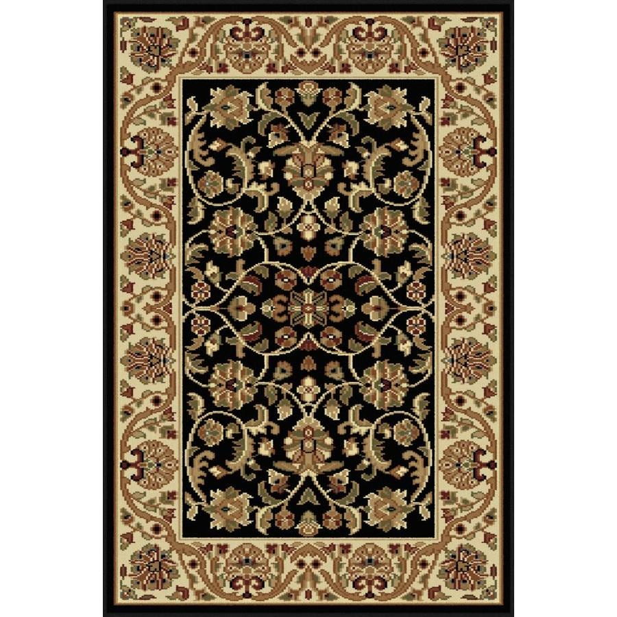 Tayse Sensation Black Rectangular Indoor Machine-Made Throw Rug (Common: 2 x 3; Actual: 2-ft W x 3-ft L)