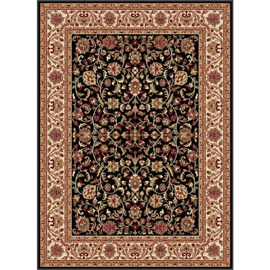 Tayse Sensation Black Rectangular Indoor Machine-made Area Rug (Common: 7 x 10; Actual: 6.5833-ft W x 9.5-ft L)