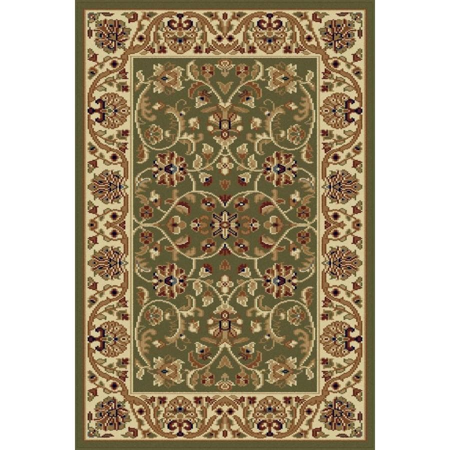 Tayse Sensation Green Rectangular Indoor Machine-made Throw Rug (Common: 2 x 3; Actual: 2-ft W x 3-ft L)