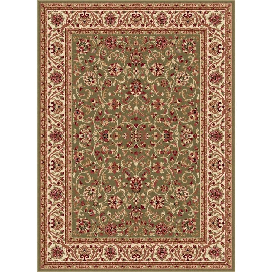 Tayse Sensation Green Rectangular Indoor Machine-Made Area Rug (Common: 7 x 10; Actual: 6.5833-ft W x 9.5-ft L)