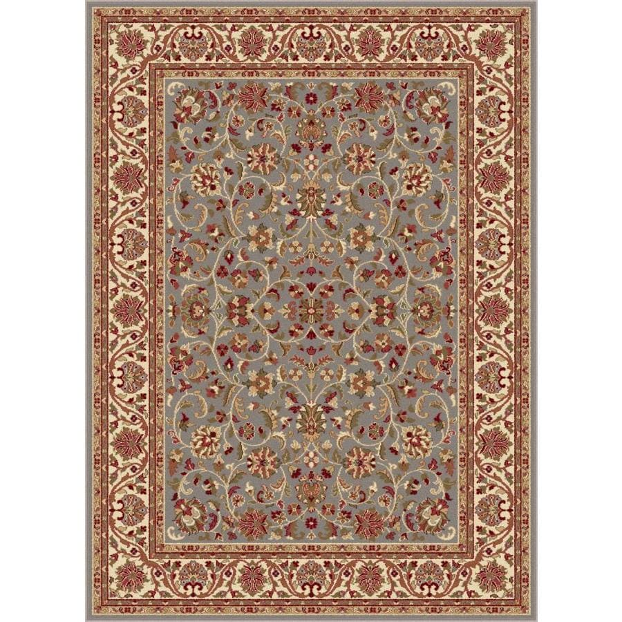 Tayse Sensation Blue Rectangular Indoor Machine-made Area Rug (Common: 5 x 7; Actual: 5.25-ft W x 7.25-ft L)