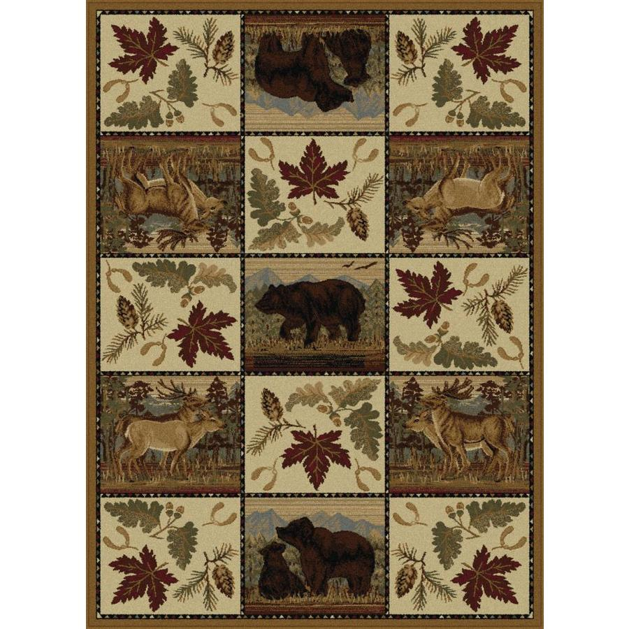 Tayse Nature Beige Rectangular Indoor Machine-Made Area Rug (Common: 8 x 10; Actual: 7.83-ft W x 10.25-ft L)