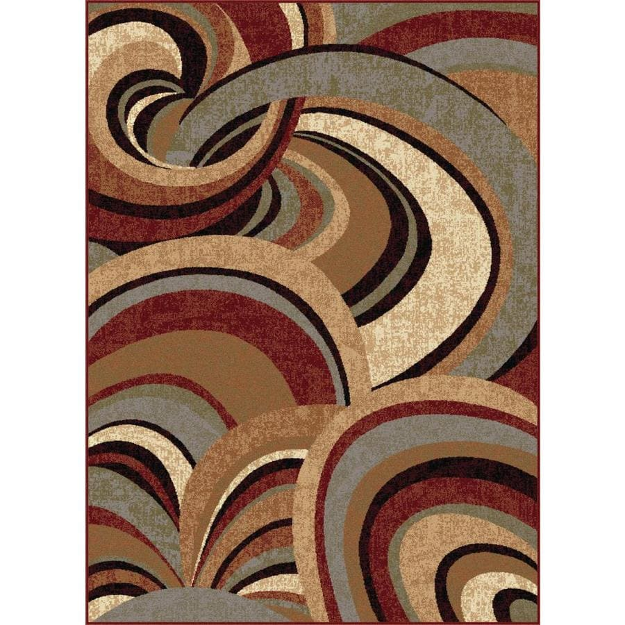 Tayse Impressions Brown Rectangular Indoor Machine-Made Area Rug (Common: 5 x 7; Actual: 5.25-ft W x 7.25-ft L)