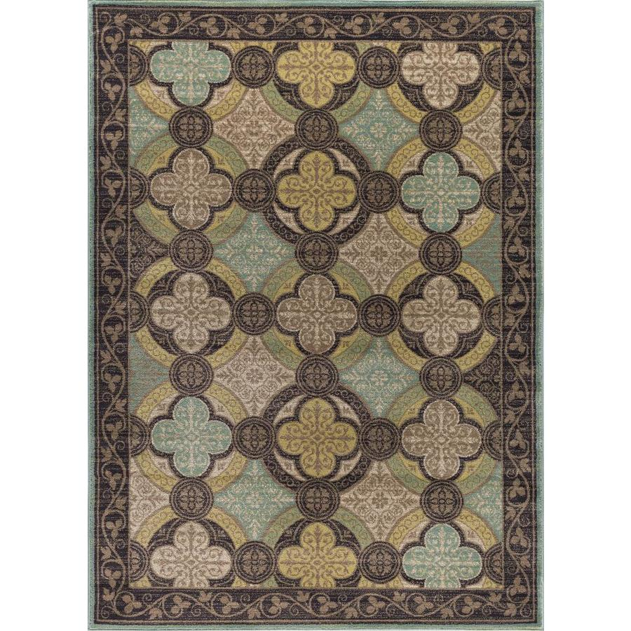 Tayse Capri Brown Rectangular Indoor Machine-Made Area Rug
