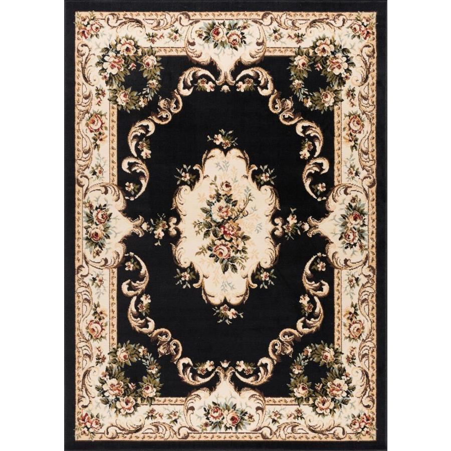 Tayse Laguna Black Rectangular Indoor Machine-Made Area Rug (Common: 9 x 12; Actual: 9.16-ft W x 12.5-ft L)