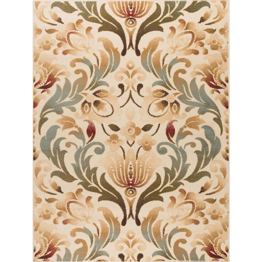 Tayse Laguna Ivory Rectangular Indoor Machine-Made Area Rug (Common: 8 x 10; Actual: 7.5-ft W x 9.83-ft L)