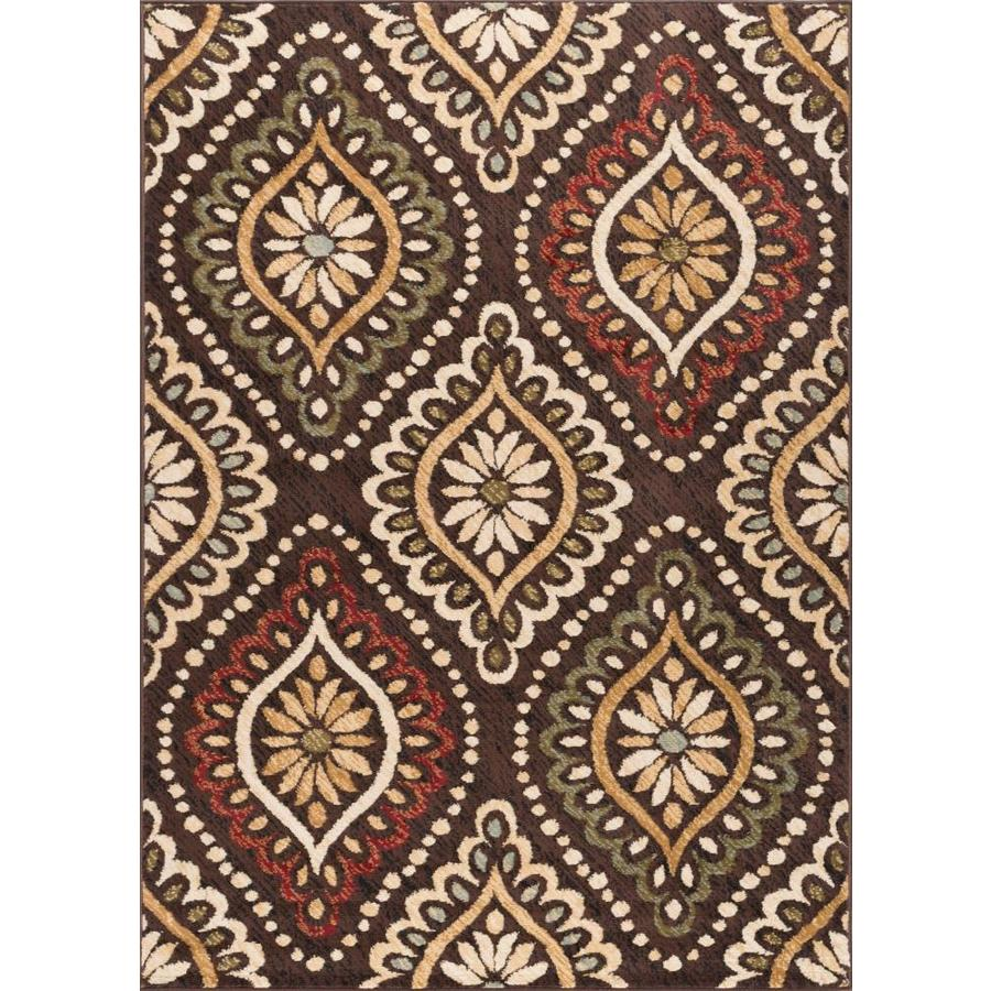 Tayse Laguna Brown Rectangular Indoor Machine-Made Area Rug (Common: 5 x 7; Actual: 5-ft W x 7-ft L)