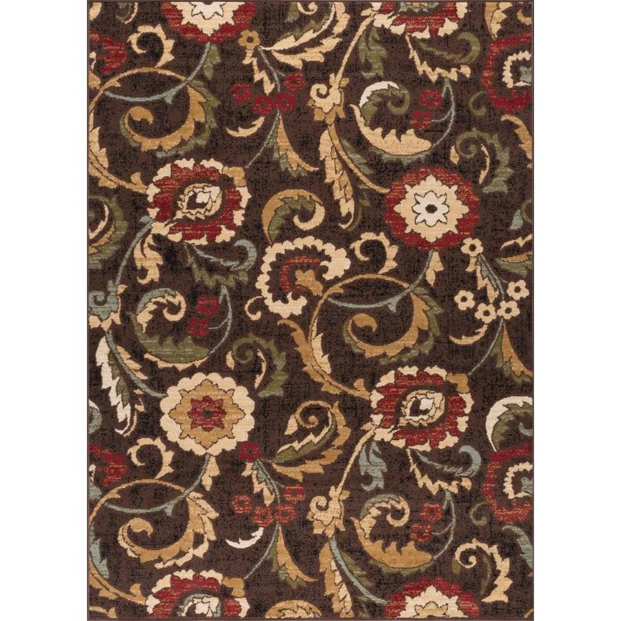 Tayse Laguna Brown Rectangular Indoor Area Rug (Common: 5 x 7; Actual: 5-ft W x 7-ft L)