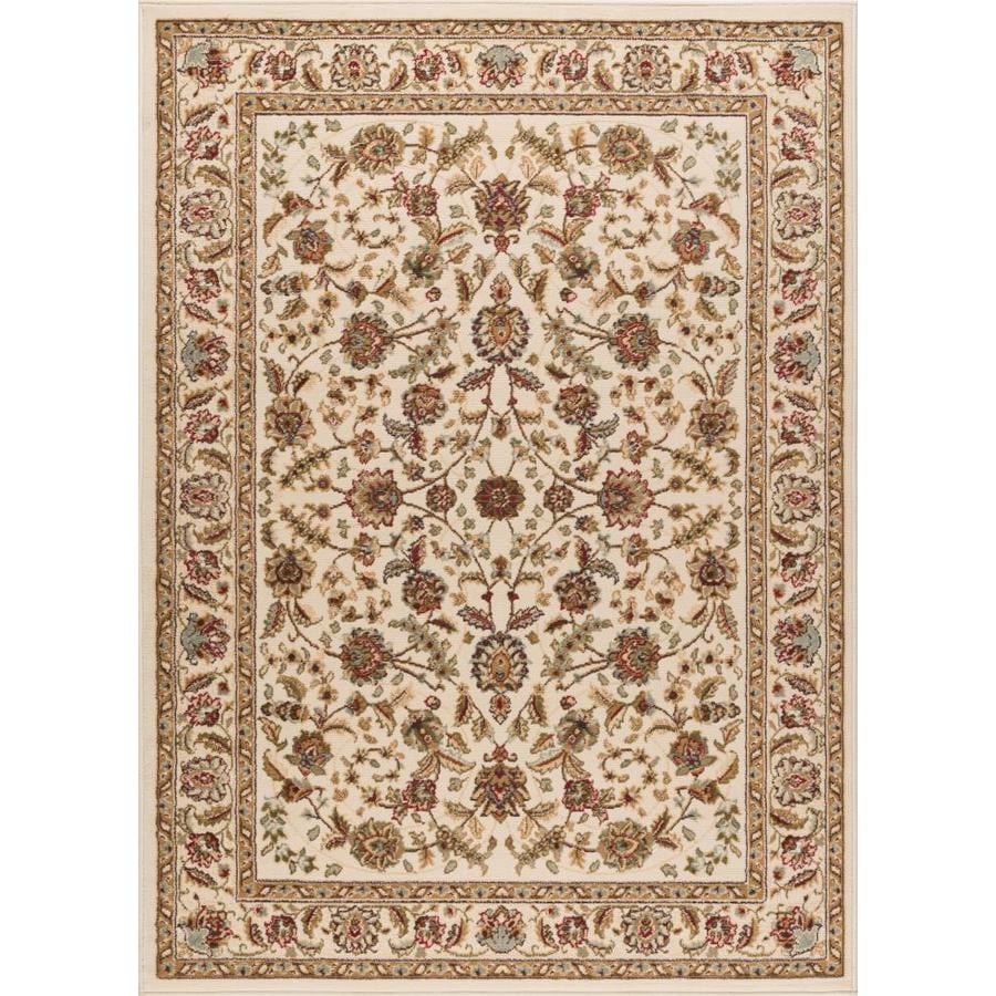 Tayse Laguna Ivory Rectangular Indoor Machine-Made Area Rug (Common: 5 x 7; Actual: 5-ft W x 7-ft L)