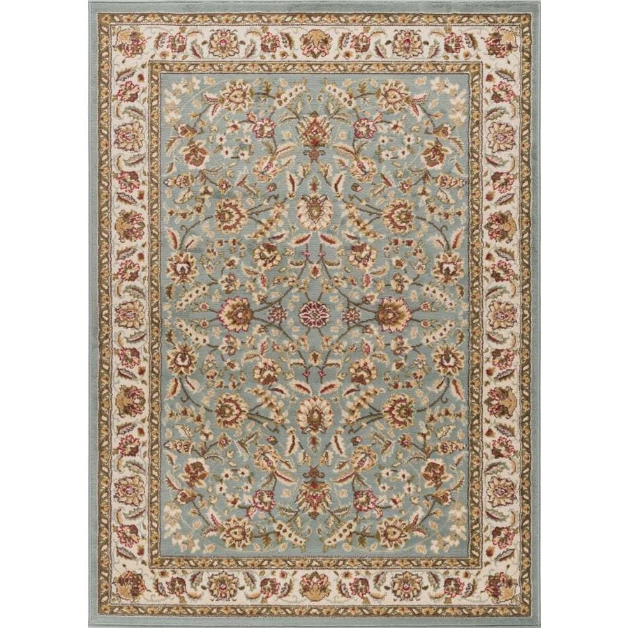 Blue Outdoor Rug 9x12: Shop Tayse Laguna Blue Rectangular Indoor Area Rug (Common