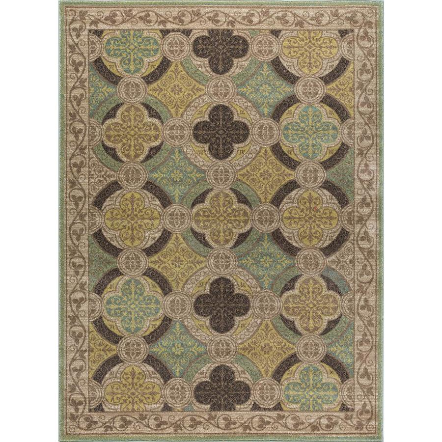 Tayse Capri Beige Rectangular Indoor Area Rug (Common: 8 x 10; Actual: 7.8333-ft W x 10.25-ft L)