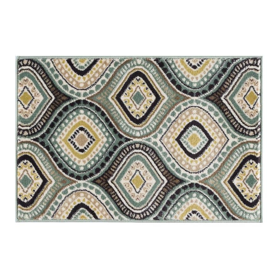 Tayse Capri Sea Foam Rectangular Indoor Throw Rug (Common: 2 x 3; Actual: 2-ft W x 3-ft L)
