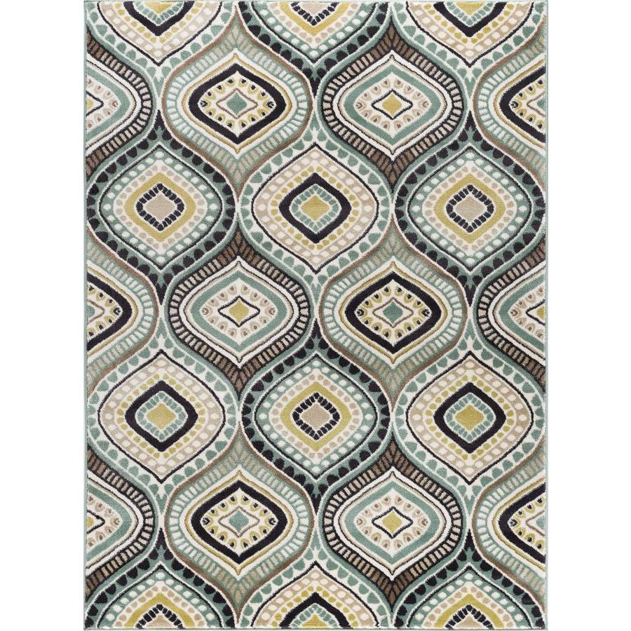 Tayse Capri Sea Foam Rectangular Indoor Area Rug (Common: 5 x 7; Actual: 5.25-ft W x 7.25-ft L)