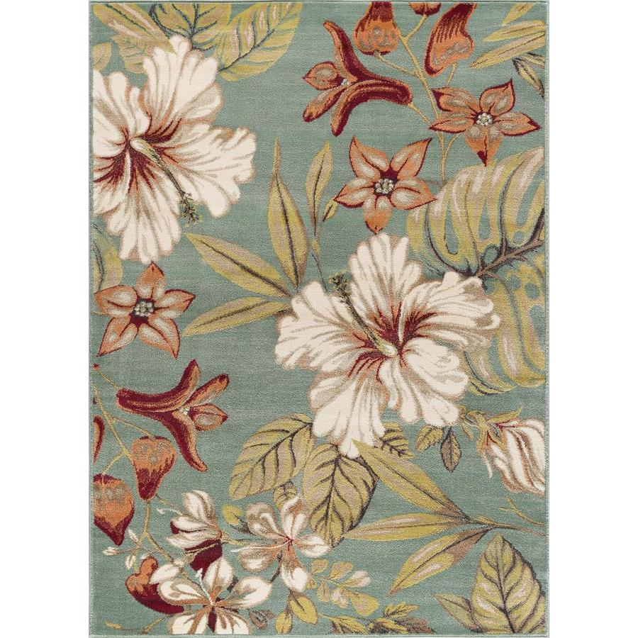 Tayse Capri Sea Foam Rectangular Indoor Machine-Made Area Rug (Common: 8 x 10; Actual: 7.83-ft W x 10.25-ft L)