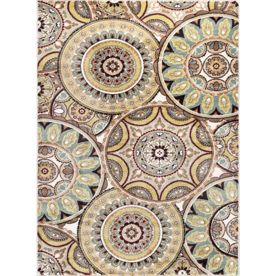 Tayse Deco Multi Rectangular Indoor Machine-Made Area Rug (Common: 5 x 7; Actual: 5.25-ft W x 7.25-ft L)