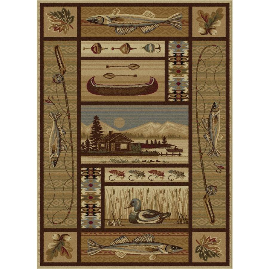 Tayse Nature Beige Rectangular Indoor Machine-Made Area Rug (Common: 5 x 7; Actual: 5.25-ft W x 7.25-ft L)