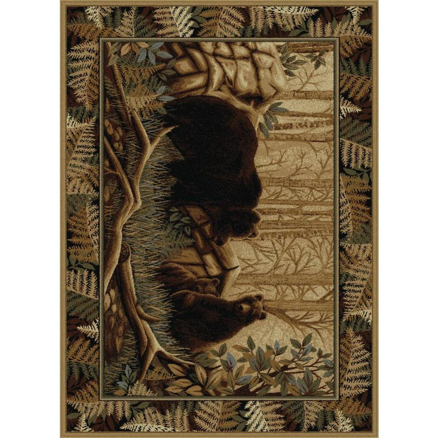 Tayse Nature Beige Rectangular Indoor Machine-Made Area Rug (Common: 8 x 10; Actual: 7.8333-ft W x 10.25-ft L)