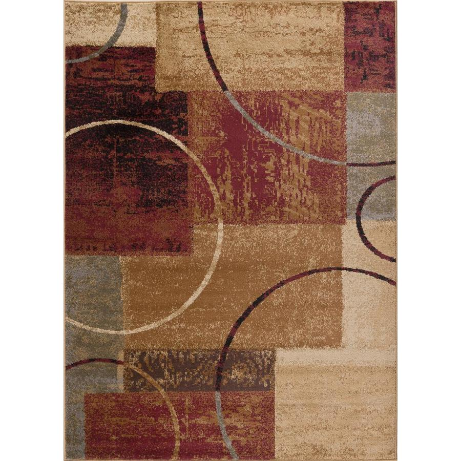 Tayse Elegance Multi Rectangular Indoor Machine-made Area Rug (Common: 5 x 7; Actual: 5-ft W x 7-ft L)