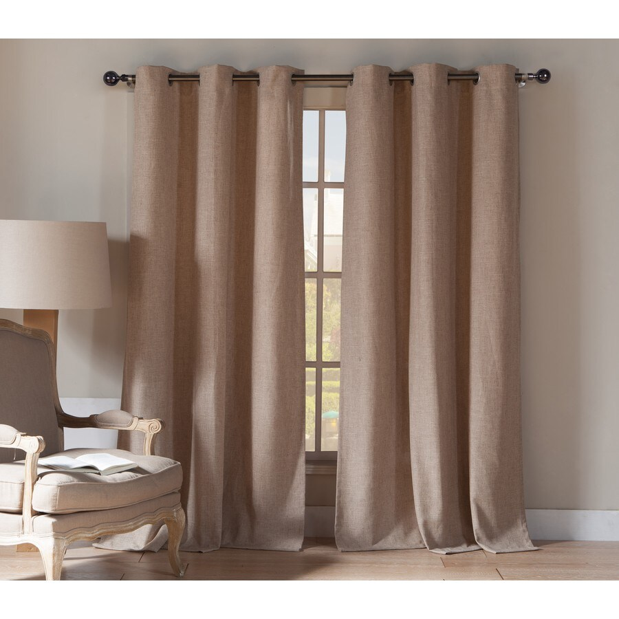 Duck River Textile 84-in Wheat Polyester Grommet Light Filtering Curtain Panel Pair
