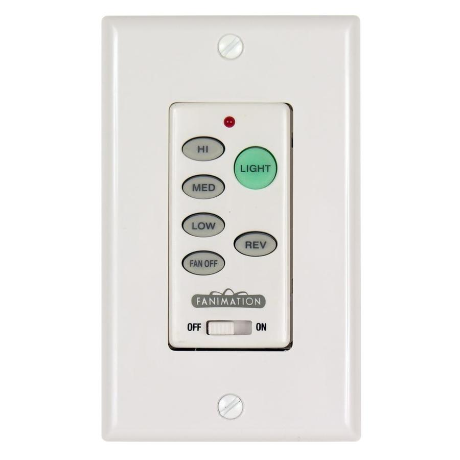 Wall Mounted Fans With Remote Control : Shop fanimation white wall mount ceiling fan remote