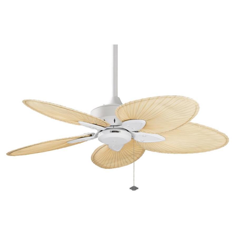 Fanimation Windpointe 52-in Matte White Indoor Downrod Mount Ceiling Fan