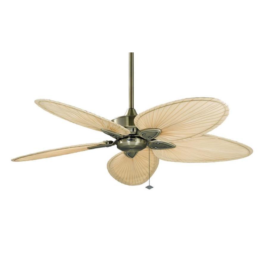 Fanimation Windpointe 52-in Antique Brass Indoor Downrod Mount Ceiling Fan