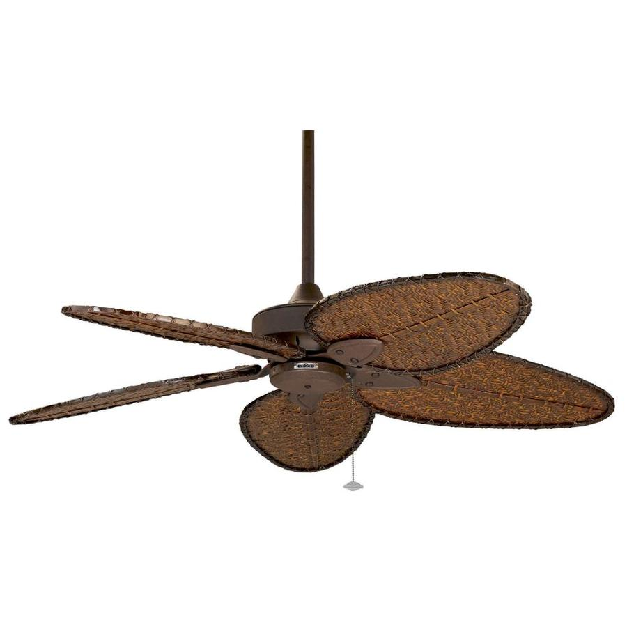 High Speed Outdoor Ceiling Fans: Shop Fanimation Windpointe 52-in Rust Indoor/Outdoor