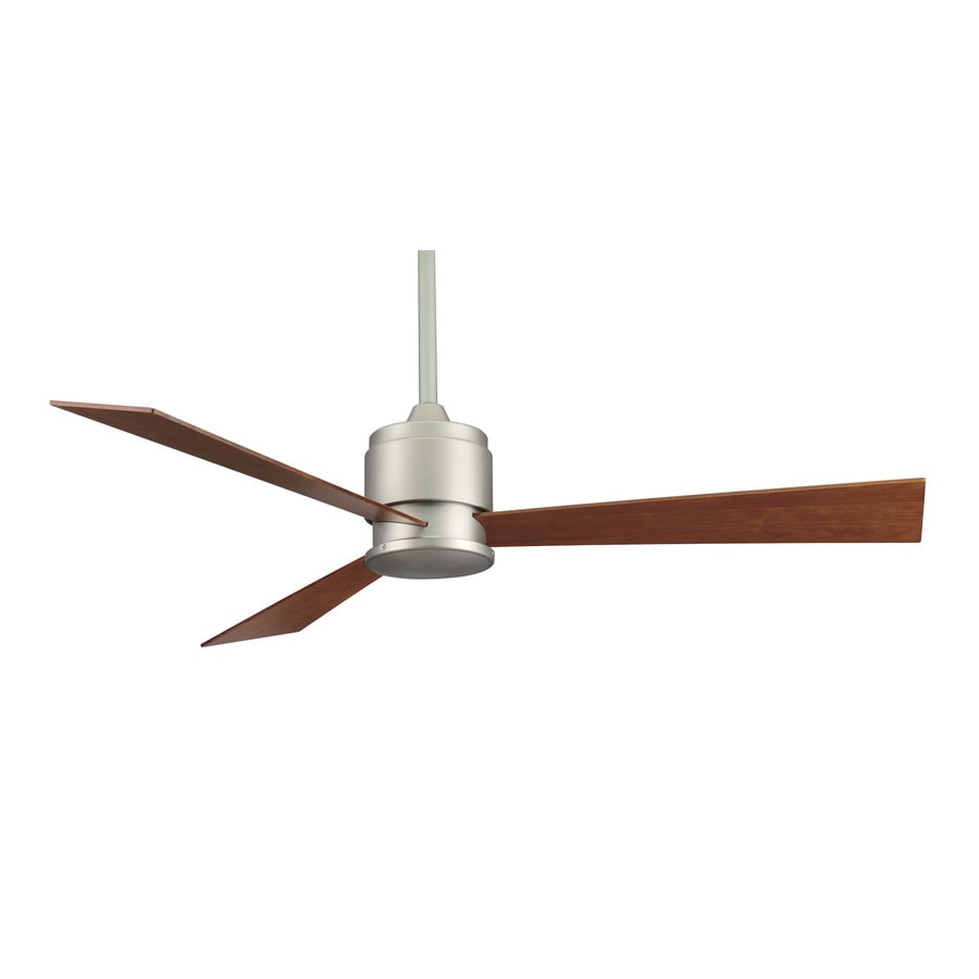 Fanimation Zonix 54-in Satin nickel Indoor Downrod Mount Ceiling Fan (3-Blade)