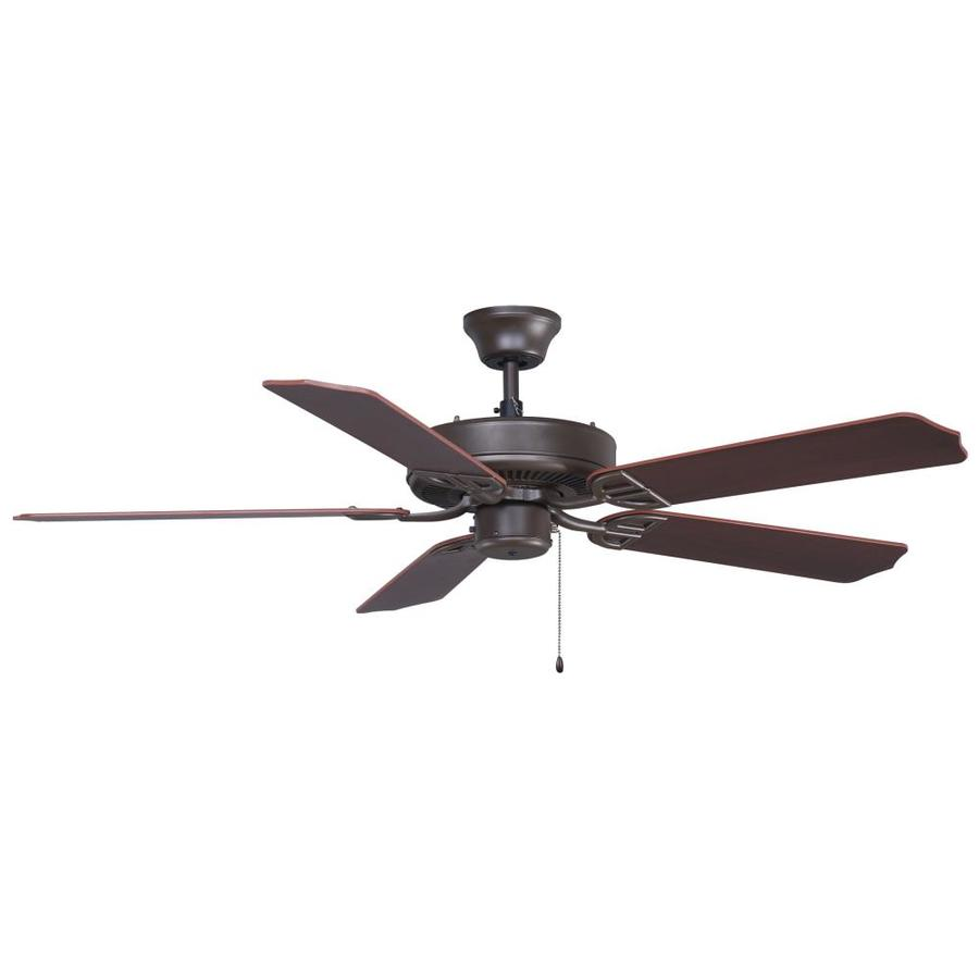 Fanimation Builder Series 52-in Oil-Rubbed Bronze Downrod Mount Indoor/Outdoor Ceiling Fan ENERGY STAR