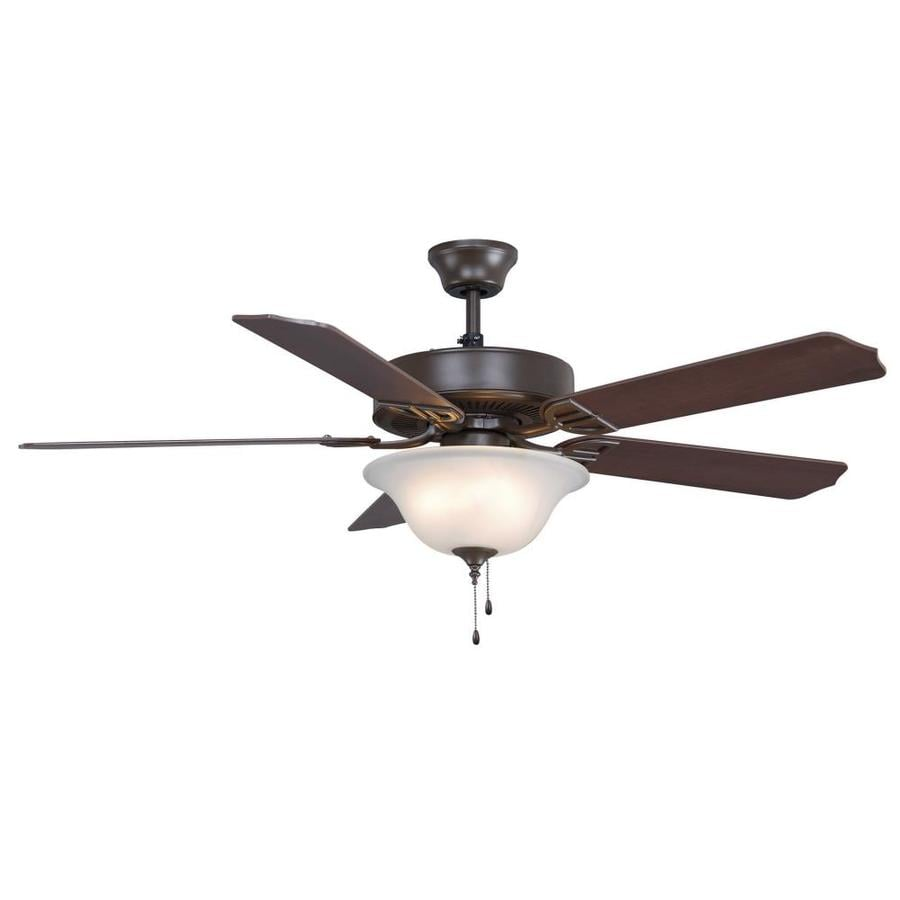 Fanimation Aire Decor Bowl 52-in Oil-Rubbed Bronze Indoor Downrod Mount Ceiling Fan with Light Kit