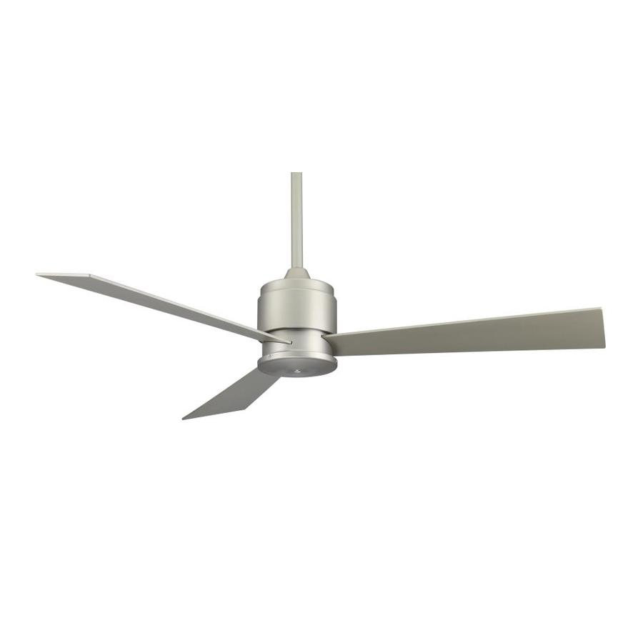 Fanimation Zonix 54-in Satin Nickel Downrod Mount Indoor Ceiling Fan (3-Blade)