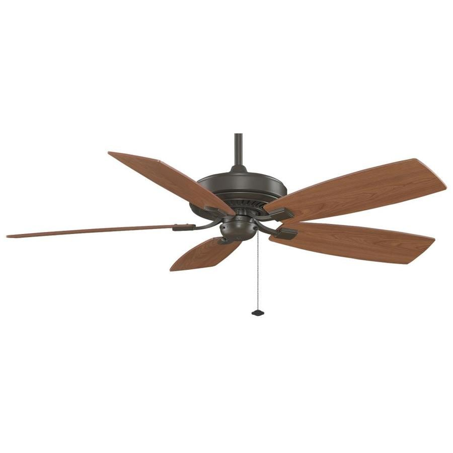Fanimation Edgewood Deluxe 60-in Oil-Rubbed Bronze Indoor Downrod Mount Ceiling Fan ENERGY STAR