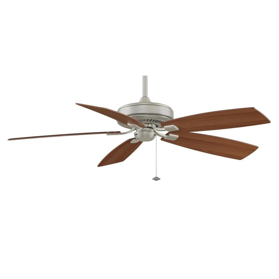 Fanimation Edgewood Deluxe 60-in Satin Nickel Downrod Mount Indoor Ceiling Fan ENERGY STAR